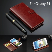 Flip Case For Samsung Galaxy S4 I9500 Phone Case Cover Leather Wallet Ultra Thin Card Holder Fundas Capa Luxury Woman us flag pattern protective leather plastic flip open case for samsung i9500 red blue beige