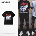 American RAP men T-shirts Street Fashion hip hop tops Summer tee HEYBIG Music Commemorative Photo Print clothing Chinese SIZE
