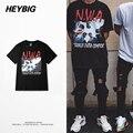 RAP americano Camisetas de los hombres de Moda de La Calle de hip hop tops tee Verano HEYBIG Música Conmemorativa Photo Print ropa TAMAÑO Chino