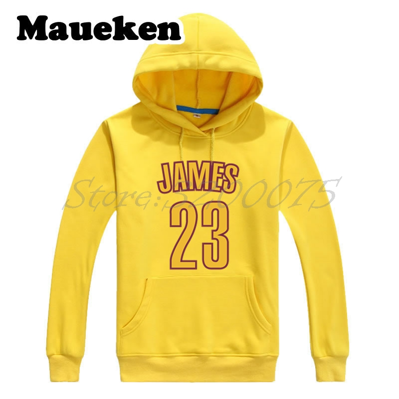 Men Hoodies LeBron James 23 Kings Cleveland Sweatshirts Hooded Thick Lace-up for fans gi ...