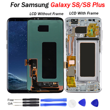 цена на For Samsung S8 LCD display with Frame Replacement for SAMSUNG Galaxy S8 Plus LCD G955 S8 G950 G950F Display lcd Touch Screen