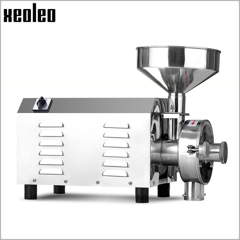 Xeoleo Grains Grinding machine Commercial Grinder Stainless steel Whole grains Milling machine 40kg/h Food crops 3000W 220V/110V xeoleo 2l heavy duty commercial blender food greater material 2000w food processing machine with pc jar juicer mixer bpa free