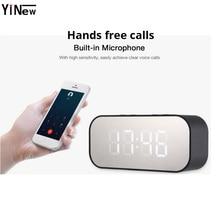 цена на Portable Wireless Bluetooth Speaker pc Subwoofer Music column mp3 TF AUX USB Sound Box LED wireless speaker+alarm Clock boombox