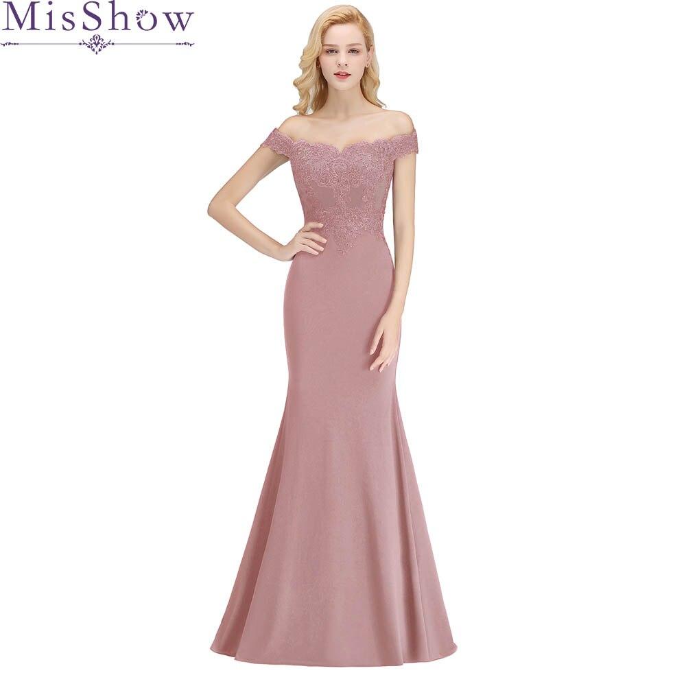 9fac32db90bd080 2019 vestido de festa Longo Платье подружки невесты в стиле русалки длиной  до пола пыльно-