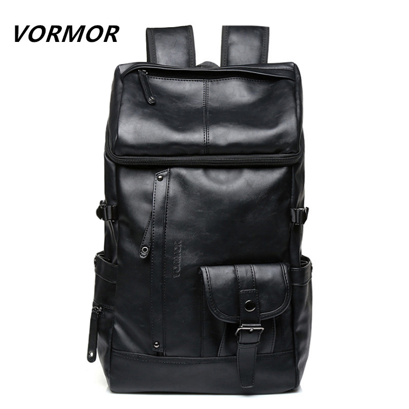 VORMOR New Arrival 2017 Male Functional bags Fashion Men backpack PU Leather backpack big capacity Men bags V6516 Рюкзак