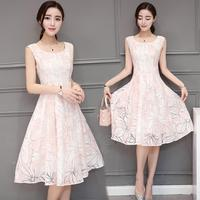 2017 Summer Women Dress Plus Size Dresses Large Size Organza Elegant Fashion Dress S M L
