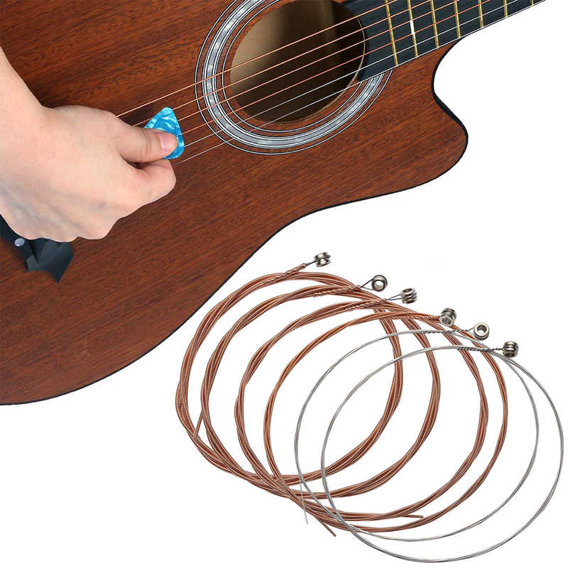 6pcs/lot Classical Guitar Strings Gauge Set of Wooden Guitar  Acoustic Strings E-A nickel FULL Steel and Bronze Bright Tone