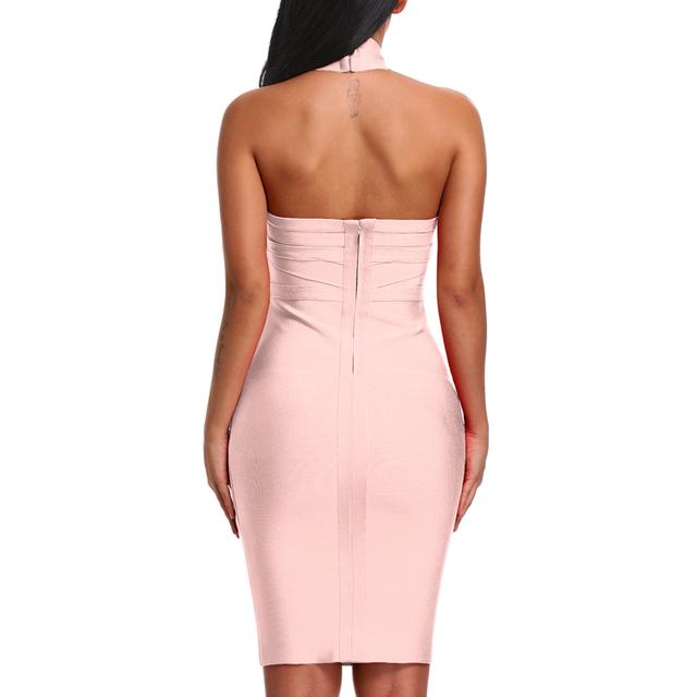 Lady Celebrity Backless Bandage Dress
