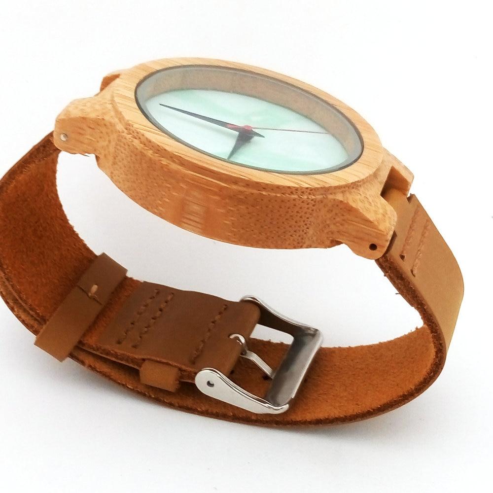 Բամբուկե փայտյա ժամացույցներ - Կանացի ժամացույցներ - Լուսանկար 4