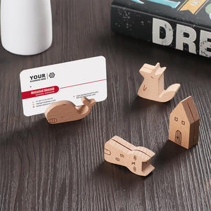 Stationery-Organizer Photo-Holder Wood Board Stand-Product Memo-Clips Message-Clamps