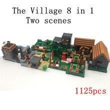 Лепин 1125 шт. в Мой Мир Деревни 8 в 1 Minecraft действий аниме фигурки Строительных Блоков Кирпичи горячие игрушки для детей совместимость 21128