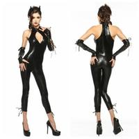 Devil Women Catsuits Black Color One Piece Jumpsuit Slim Fit Hot Latex Catsuits For Women LQZ SM88613