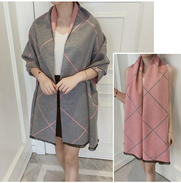 Design Shawls Scarves for Women Plaid Luxury Scarf