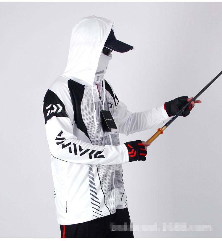 New Summer Autumn Outdoor Anti Mosquito Fishing Clothes Men 39 s Quick Drying Breathable Ultra Thin Mesh Hooded Fishing Clothing in Fishing Clothings from Sports amp Entertainment