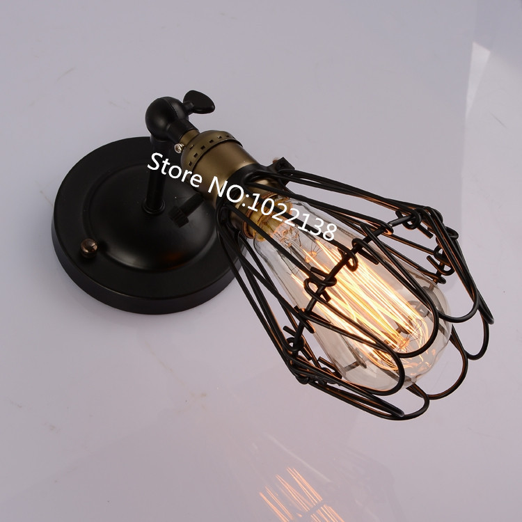 Free shipping High quality wrought iron birdcage stair lamp Loft Northern Europe american vintage retro country nordic wall lamp high quality branch shape iron reminisced pendant lamp loft northern europe american vintage retro country pendant light