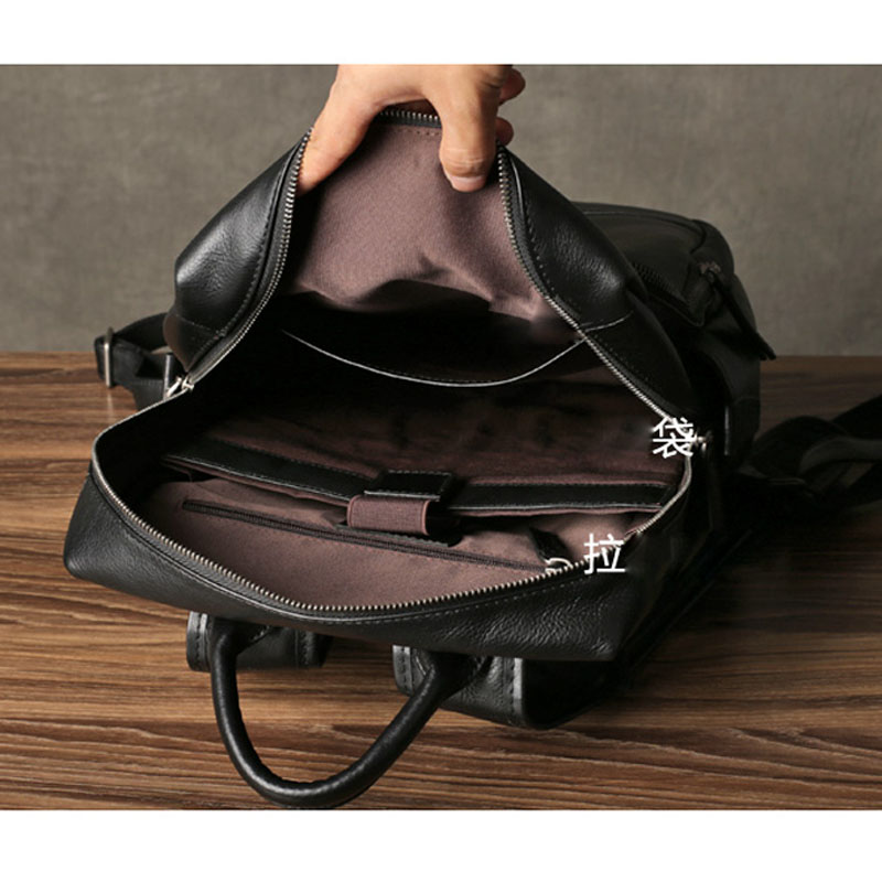 Image 5 - AETOO Leather mens shoulder bag first layer leather travel bag fashion trend bag casual business computer bagBackpacks   -