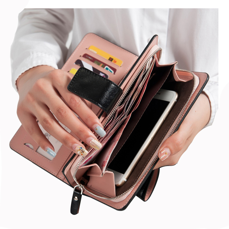 hot sales female wallets zipper dollar price leather