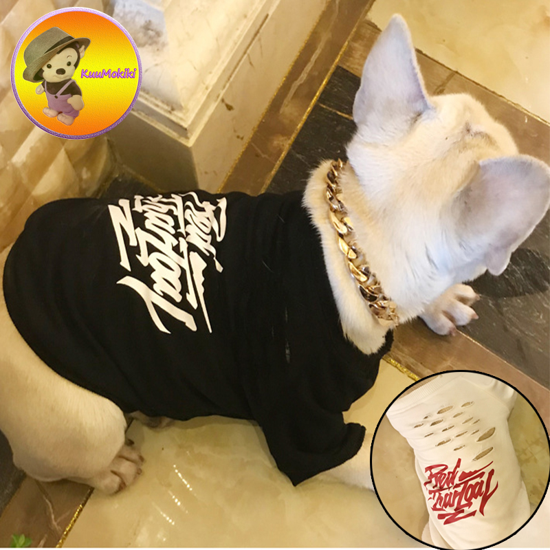 New Arrivals pets T shirt Puppy shirts dog clothes pet coat Vestidos dogs vest sweatershirt Dog Apparel French Bulldog clothing