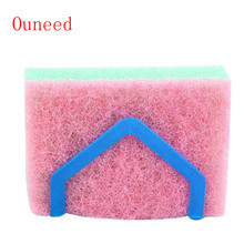 Ouneed Brand Dish Cloths Rack Suction Sponge Holder Clip Rag Storage Rack Plastic Convenient for you Useful Storage Tool 2017