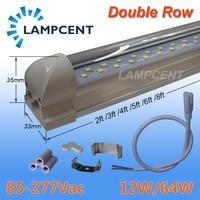 T8 LED Tube Light Bulb Integrated Double Row 2FT 3FT 4FT 5FT 6FT 8FT LED Shop Lights 4/6/10 Pack