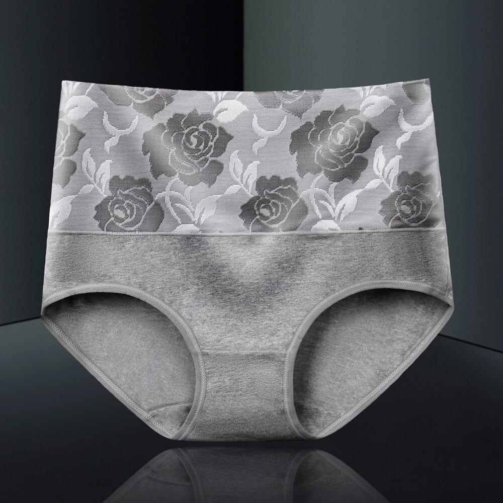 5XL Underwear Women Panties High Waist Cotton Briefs Plus Size Calcinhas Sexy Print Flower Panty Shorts Seamless Underpant Girls