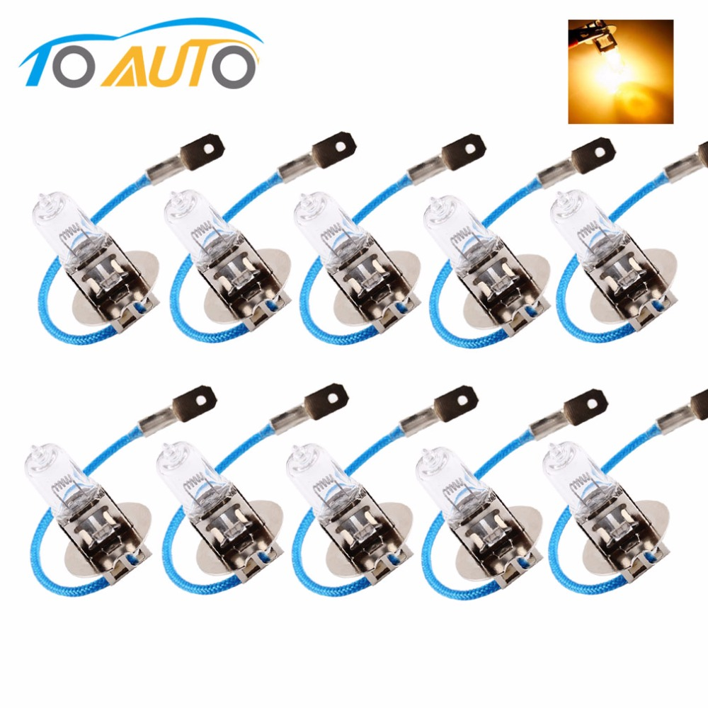 10 PCS H3 24V 70W 3200K Yellow Fog Halogen Bulb Light Car Light Lamp Car Styling Car Light Source