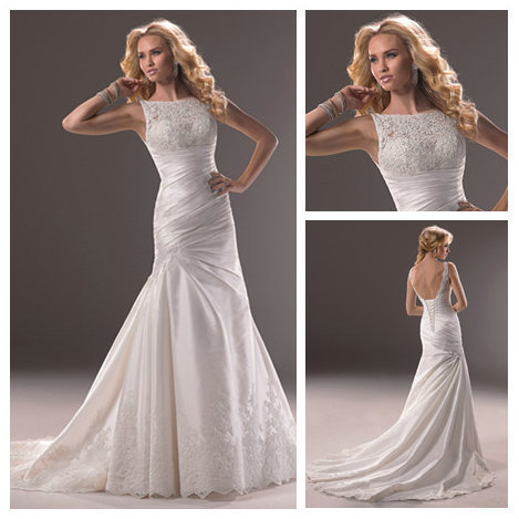 Elegant high collar low back wedding gowns robe de mariage for High collared wedding dress