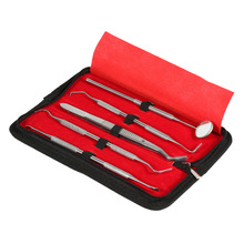 5PCS/Set Stainless Steel Tartar Remover Picks Scaler Dental Oral Hygiene Care Dental Tool Teeth Whitening Cleaning Kits With Box
