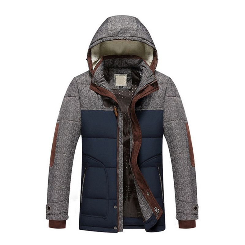 New Arrival Casual Slim Cotton Thick Mens Coat Parkas With Hooded Warm Casaco Masculino Brand Winter Jacket Men Fashion M-5XL