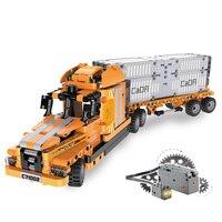 HOT sell Blocks High Simulation Port Engineering Intelligent Sound Light Induction Motor Set 10 Models Building Block Kids Toy