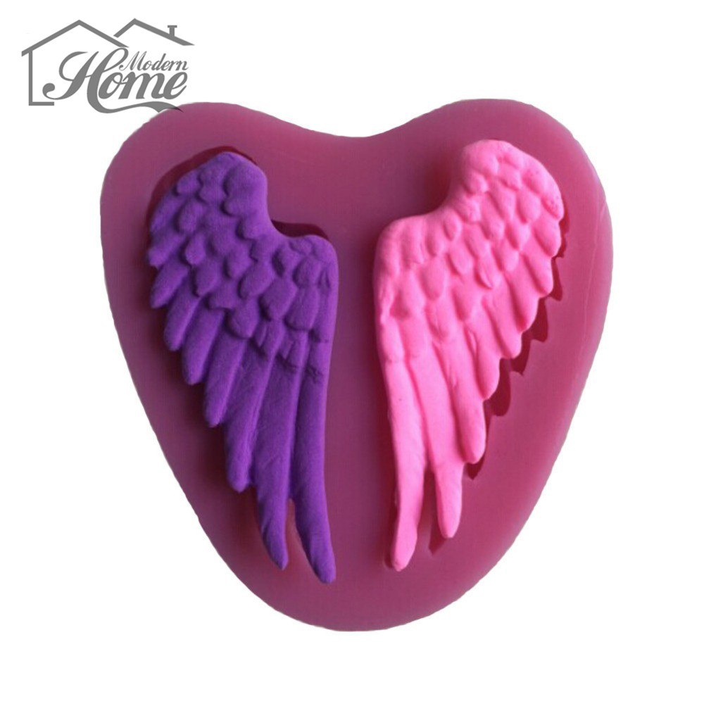Beautiful Angel Wings Shape Silicone 3D Mold Cookware Dining Bar Non-Stick Cake Decorating Fondant Soap Mold