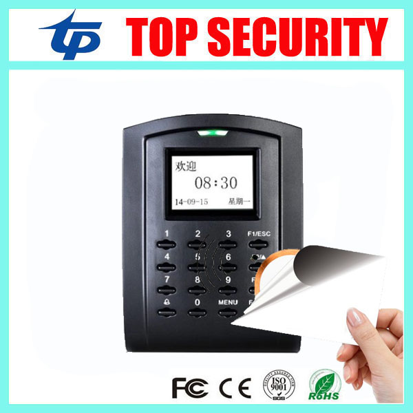 Biometric 13.56MHZ IC card access control with keypad TCP/IP standalone door access control and time attendance SC103 biometric fingerprint access control attendance time clock with tcp ip
