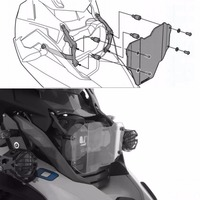 For BMW R1200GS Headlight Protector Guard Lense Cover For BMW R 1200 GS Adventure 2013 2014