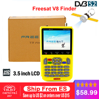 Freesat V8 Finder Free Shipping 3 5 Inch LCD Digital SatFinder DVB S2 Vs Sathero MPEG