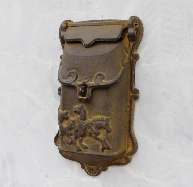 29.5x15.8x7cm Retro old cast iron small mailbox courtyard door decoration wall ornament