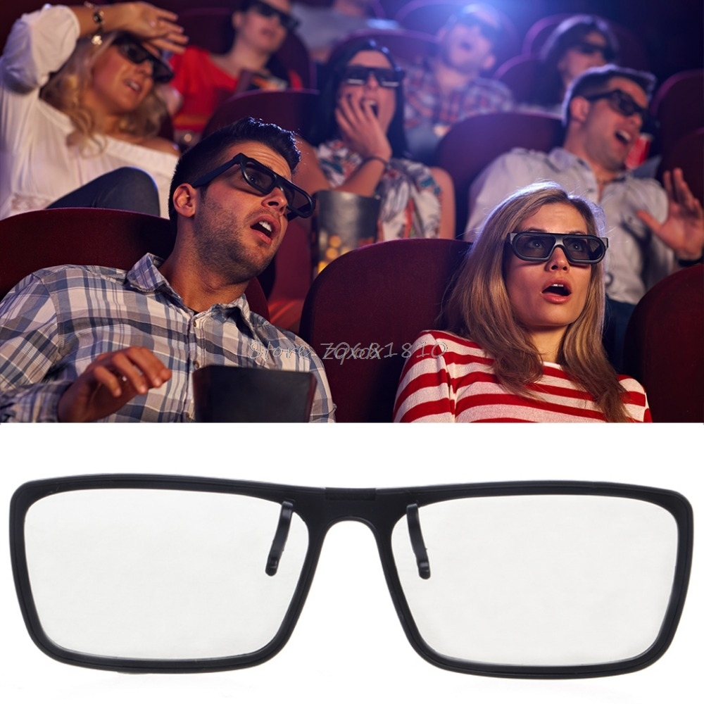 Clip-On Type Circular Passive Polarized 3D Glasses For TV Real 3D Cinema 0.22mm Z17 Drop Ship