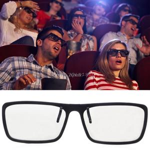 On Type Circular Passive Polarized 3D Glasses For TV Real 3D Cinema 0.22mm Z17