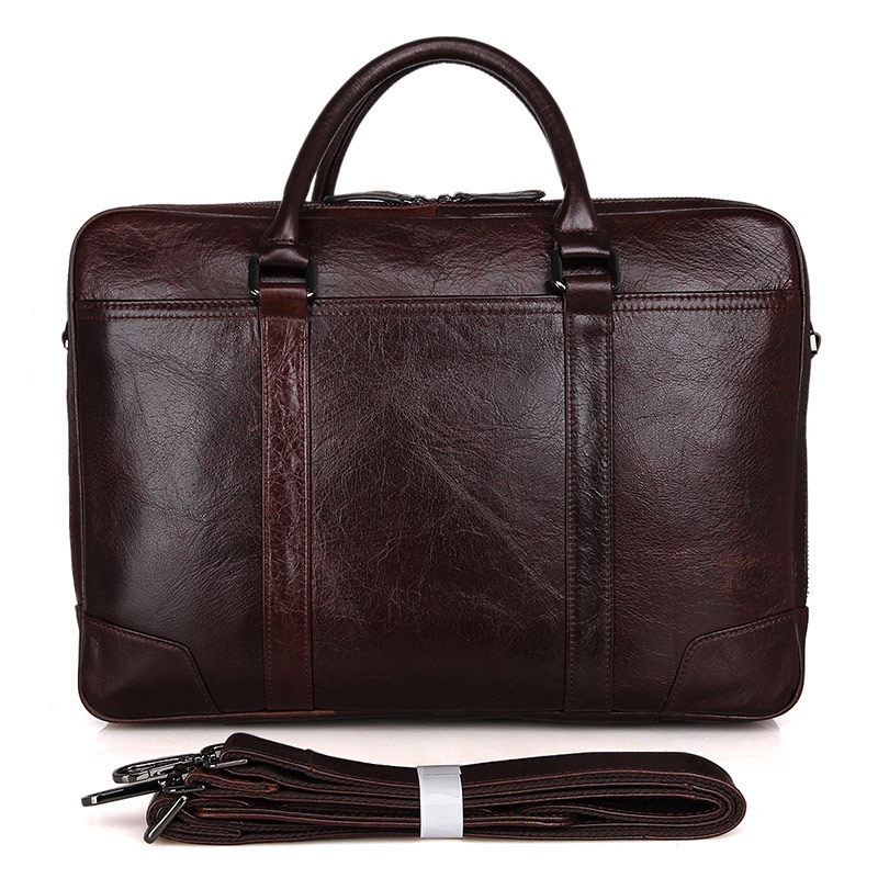Cuir Double D'affaires Section Hommes Porte Noir De Black Sac À Carrée Main Principale Ordinateur En documents Pouces S6qqTWf5wp