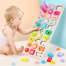 Preschool Montessori Educational Wooden Toys Teaching Aids Learning Montessori Materials Wooden Montessori Math Toy For Children montessori baby wooden educational toys mathematics learning preschool teaching aids test tube long division board