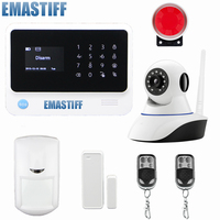 Original G90B WIFI GSM Alarm System With GPRS Touch Keypad IOS Android APP Controlled Home Secure