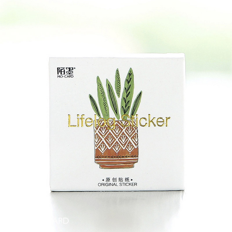 45 Pcs/lot Cactus Mini Paper Sticker Decoration Diy Ablum Diary Scrapbooking Label Toys Sticker 40pcs lot new korea lovely animal style diy multifunction paper sticker decoration seal label