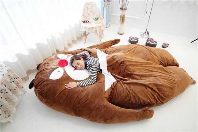 Luxury China Anime Cartoon Bears Two Large Sofa Cushion Pillows Plush Bed Soft Mattress Tatami Mat Children Kids Gift In Stuffed Animals From