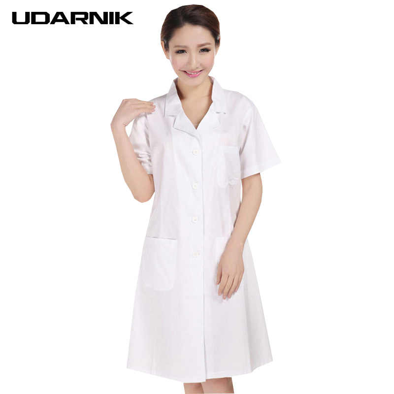 053dc7d3405a Detail Feedback Questions about Lady White Short Sleeve Lab Coat Cotton  Doctors Scientist Women Nurse Uniform Dress Costume Medical Clothing 903  227 on ...