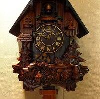 Christmas christmas Resin hand carved wood cuckoo quartz clock watch the pastoral clock Cuckoo Clock halloween Halloween