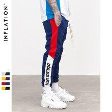 1b5d66ef89ad9 Инфляции 2018 Новый Осень Для мужчин s Sweatswear Штаны печати полосками по  бокам карманы Для мужчин