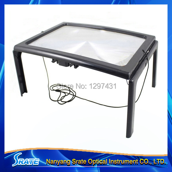 3x Folding Fresnel Lens Magnifier A4 Magnifying Glass with LED Lights for the Elderly Low Vision Aid 3x magnifying magnifier