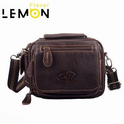 2017 Top Quality Geninue Leather Men's Travel Bags Funny Men Waist Bag Business Men Handbag Fashion Men Messenger Bags WB4014