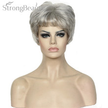 Platinum short hair reviews online shopping platinum short hair strong beauty womens wigs short platinumsilver golden curly natural synthetic capless hair full wig urmus Gallery