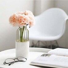 Скандинавский керамический Железный арт настольная ваза цветочный горшок гидропонный контейнер Цветочная ваза для бонсай Обои для рабочего стола офисный домашний декор