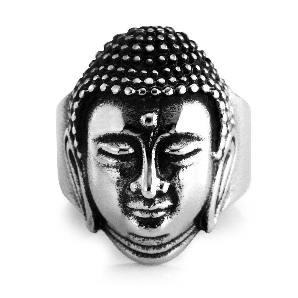 Men's Buddha Stainless Steel Ring 5